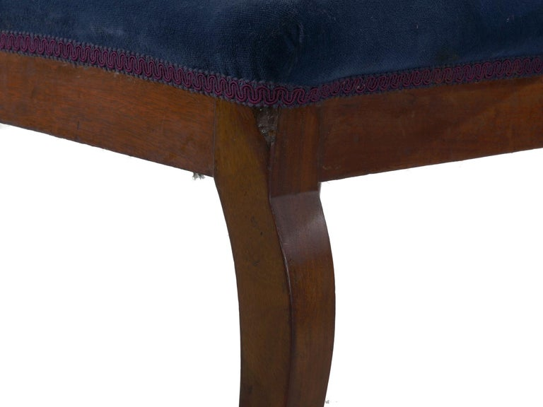 19th Century Set of Six Biedermeier Style Antique Dining Chairs For Sale 9