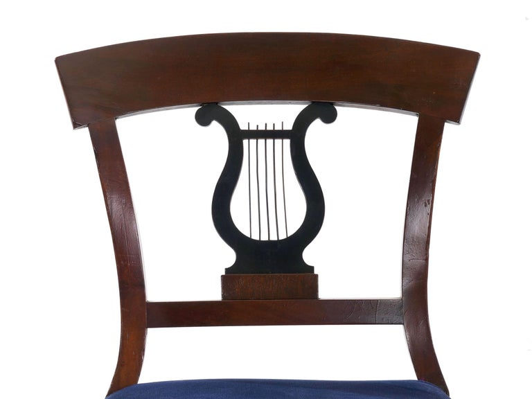 19th Century Set of Six Biedermeier Style Antique Dining Chairs For Sale 11
