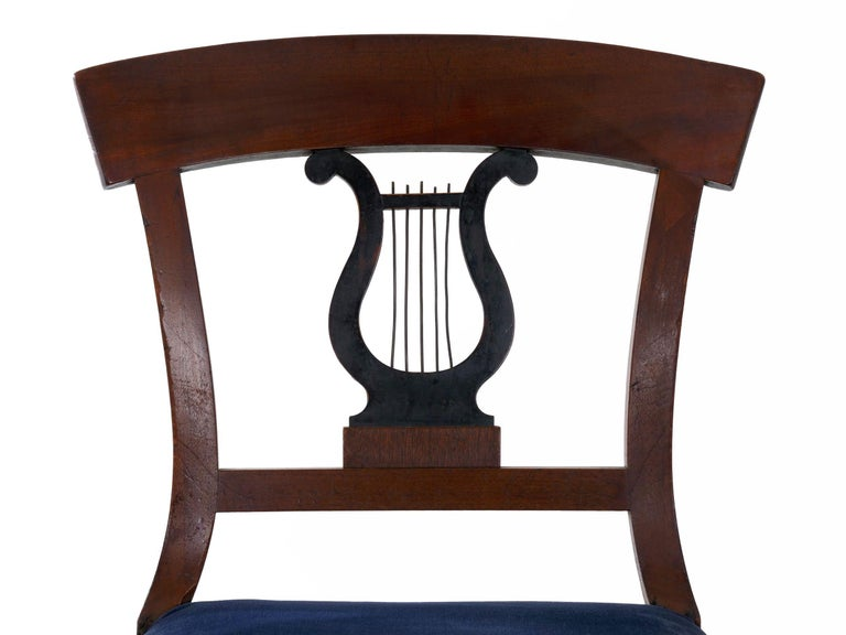 19th Century Set of Six Biedermeier Style Antique Dining Chairs For Sale 12