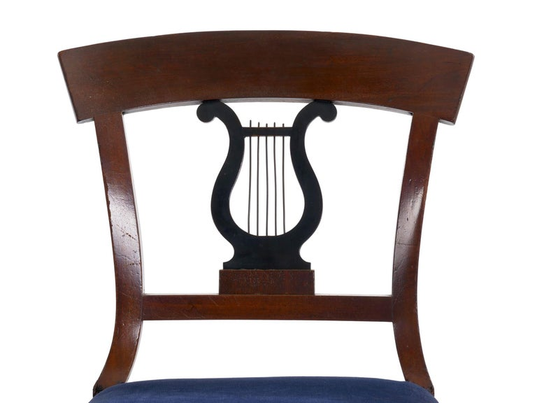 19th Century Set of Six Biedermeier Style Antique Dining Chairs For Sale 13