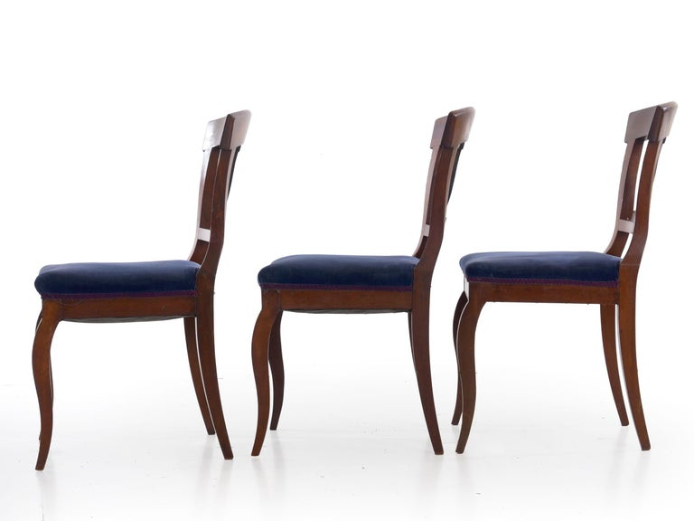 19th Century Set of Six Biedermeier Style Antique Dining Chairs For Sale 2