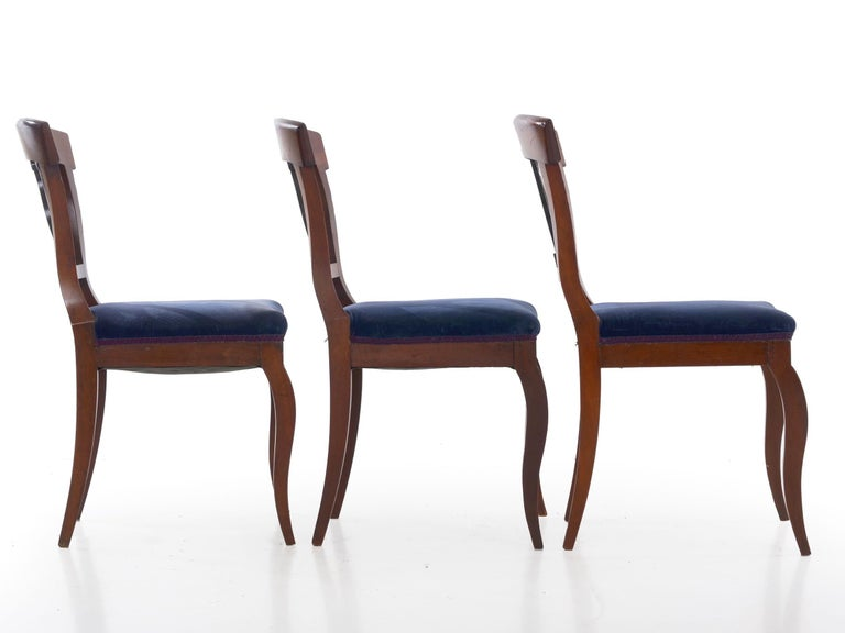 19th Century Set of Six Biedermeier Style Antique Dining Chairs For Sale 4