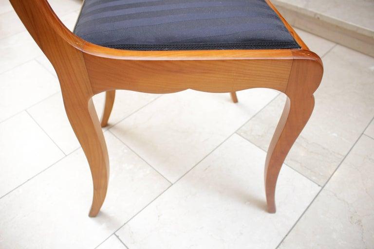 19th Century, Set of Six Cherry Biedermeier Chairs, Germany 5
