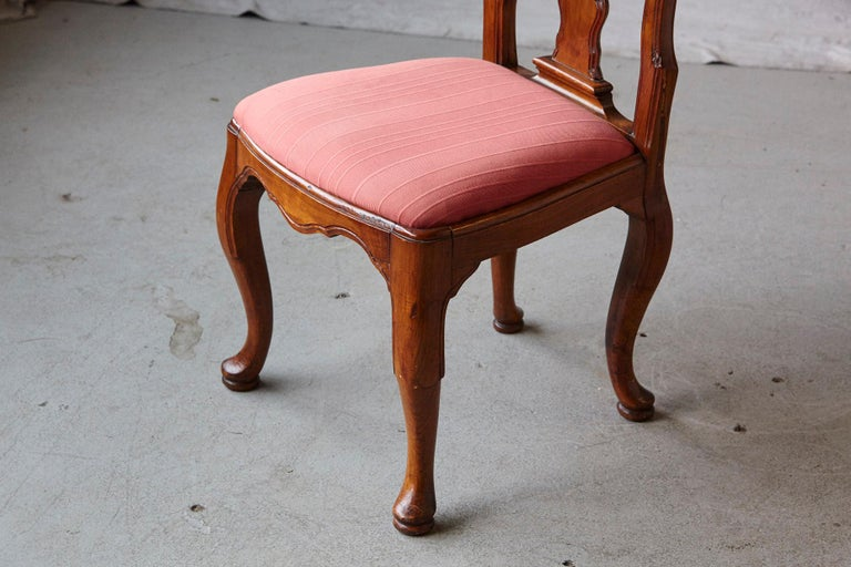 19th Century Set of Six Louis XIV French Country Style Carved Walnut Chairs For Sale 9