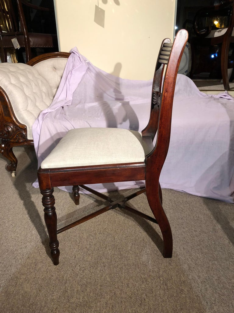 English 19th Century Set of Six Regency Mahogany Dining Chairs For Sale