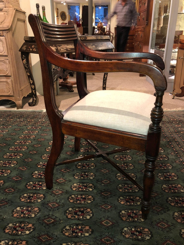 Early 19th Century 19th Century Set of Six Regency Mahogany Dining Chairs For Sale