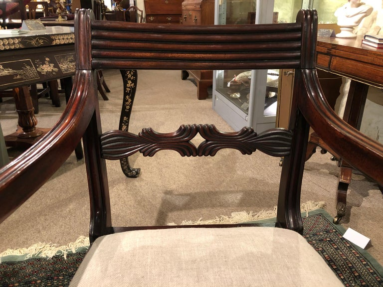 19th Century Set of Six Regency Mahogany Dining Chairs For Sale 1