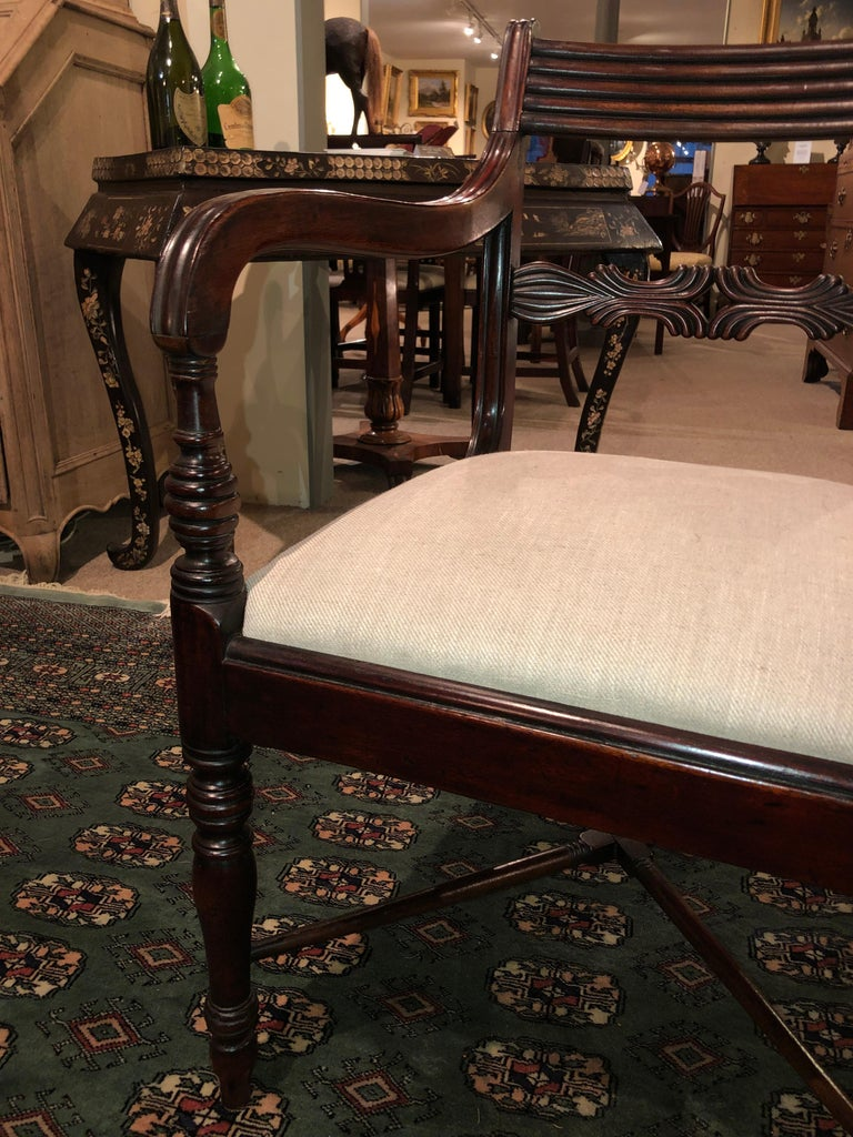 19th Century Set of Six Regency Mahogany Dining Chairs For Sale 2