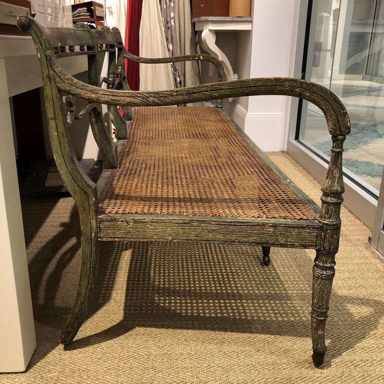 19th Century Settee with Cushion For Sale 1