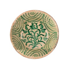 "19th Century Sevillian ""Lebrillo de Fajaluza"" Ceramic Dish, Spain"