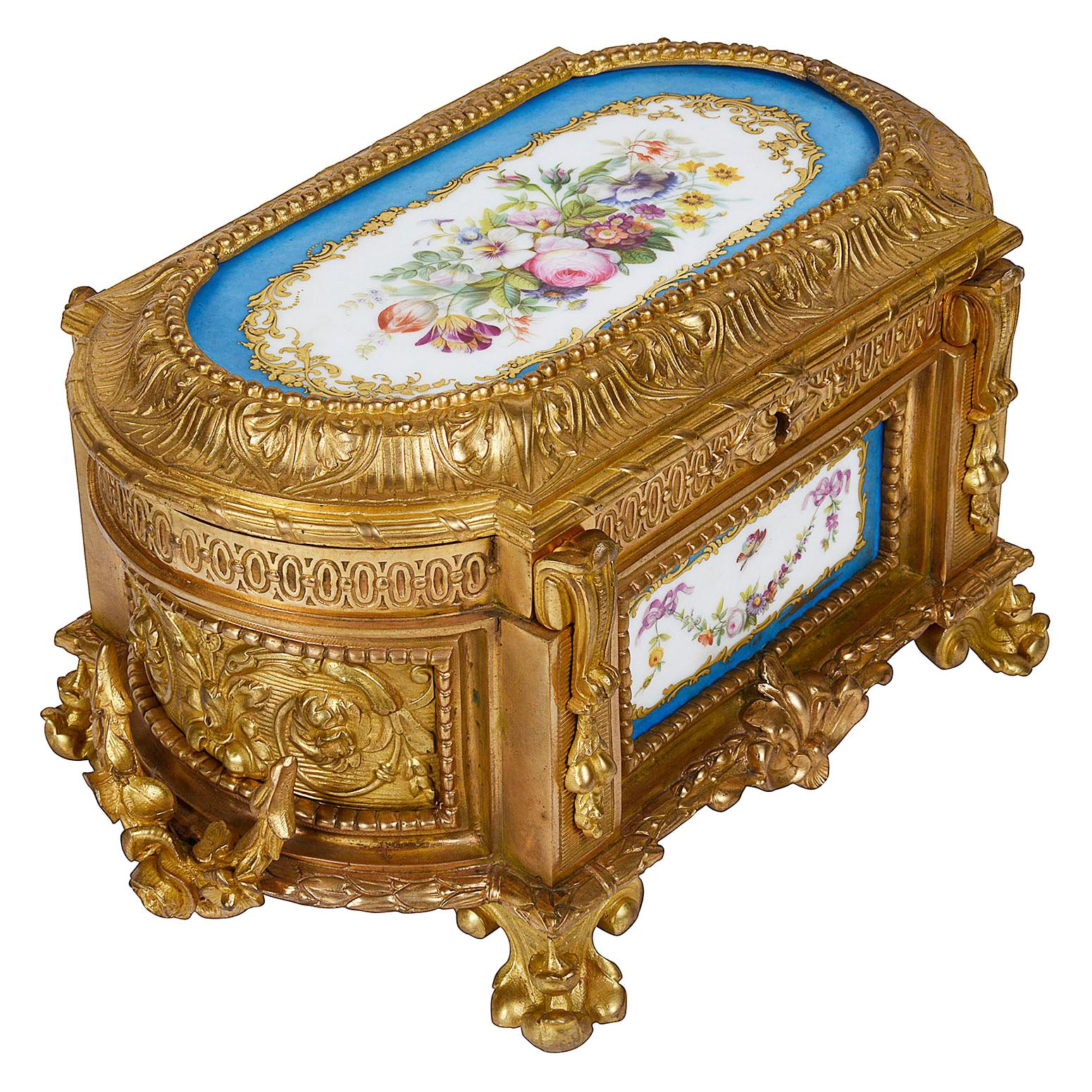 19th Century Sevres Style Casket, by Tahan, Paris