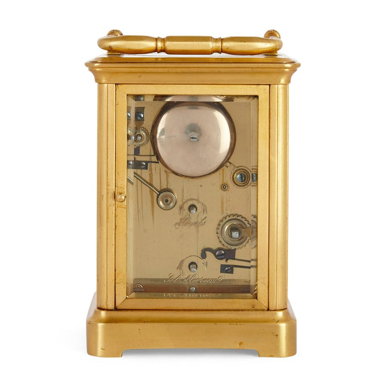 Rococo Style Sevres Style Porcelain and Ormolu Carriage Clock In Good Condition For Sale In London, GB