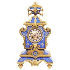19th Century Sevres Style Porcelain Mantel Clock