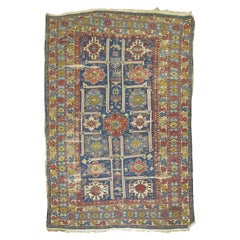 19th Century Shabby Chic Geometric Tribal Antique Shirvan Rug
