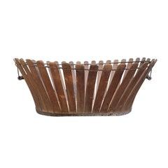 19th Century Shaker Wooden Splat Basket