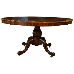 19th Century Shaped Rosewood Centre Table