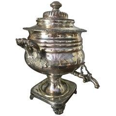 19th Century Sheffield Plate Samovar Tea Urn