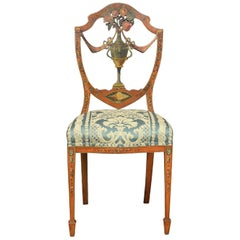 19th Century Sheraton Revival Satinwood Chair