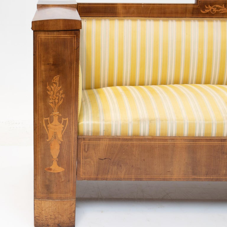 19th Century Sheraton Style Sofa In Good Condition For Sale In Brentwood, TN