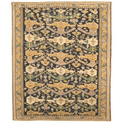 19th Century Shirvan Beige, Gold and Green Handwoven Wool Rug