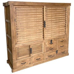 19th Century Shop Chest Tansu from Japan