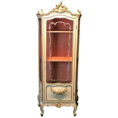 19th Century Showcase in Lacquered and Gilded Wood