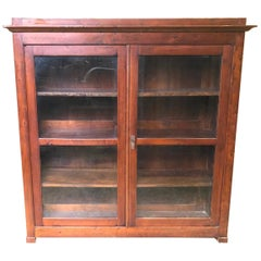 19th Century Showcase in Solid Cypress Shelves Tuscany