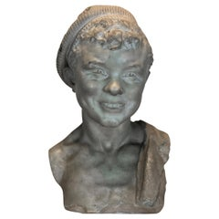 19th Century Signed and Dated Bust Sculpture