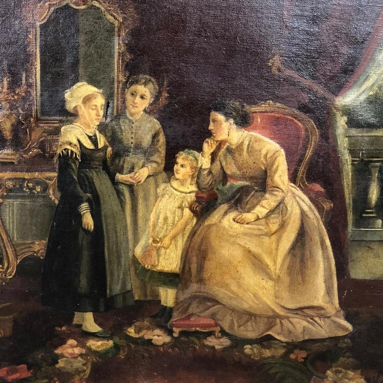 Interesting painting, portraying home interior. 