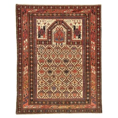 Late 19th Century Signed Caucasian Beige Wool Daghestan Rug