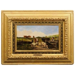 19th Century Signed Oil Painting by Ludwig Sellmayr