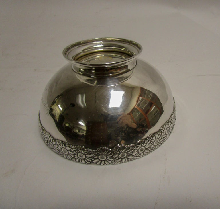 19th Century Signed Tiffany Vine Pattern Sterling Silver Bowl For Sale 1