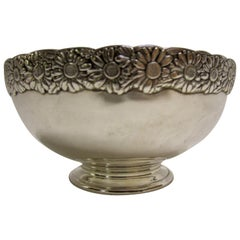 19th Century Signed Tiffany Vine Pattern Sterling Silver Bowl