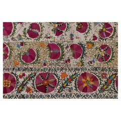 Rare Silk Embroidered Antique Suzani from Private Collection