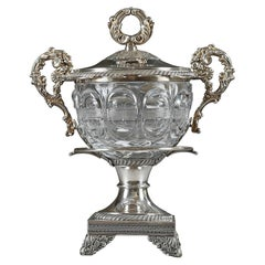 19th Century Silver and Cut-Crystal Candy Dish