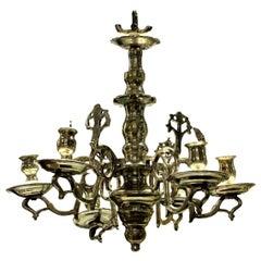 19th Century Silver Flemish Chandelier
