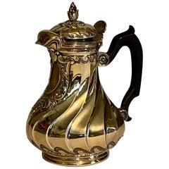 19th Century Silver-Gilt Hot Milk Jug, Style of Thomas Germain