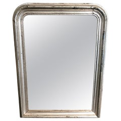 19th Century Silver Gilt Louis Philippe Mantel Wall Mirror