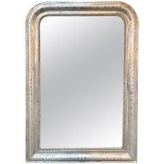 19th Century Silver Leaf Louis Philippe Mirror