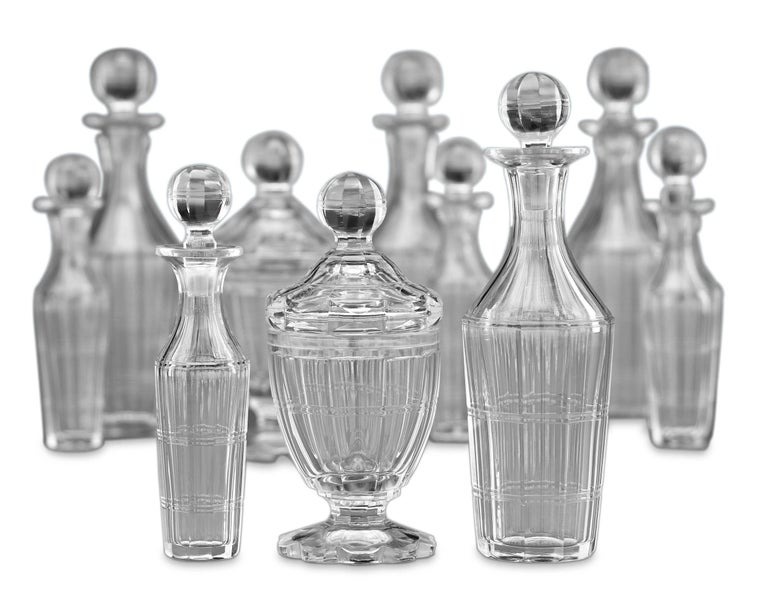19th Century Silver Plate Epergne and Cruet Service In Excellent Condition For Sale In New Orleans, LA