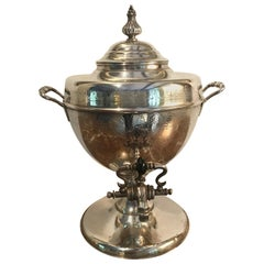 19th Century Silver Plate Samovar Tea Urn
