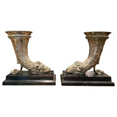19th Century Silver Plated Ram Head Bookends