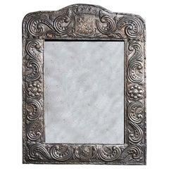 19th Century Silver Repoussé Mirror
