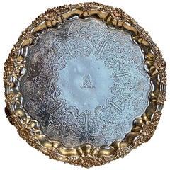 19th Century Silver Salver