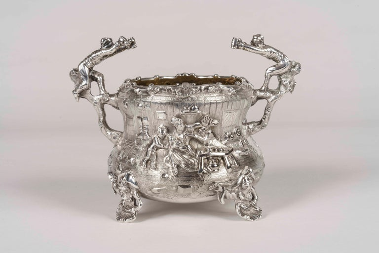 English 19th Century Silver Tea & Coffee Service Made by Joseph Angell For Sale