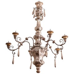 19th Century Silvered Italian Chandelier