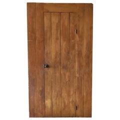 19th Century Single Door Cupboard with Mustard Finish