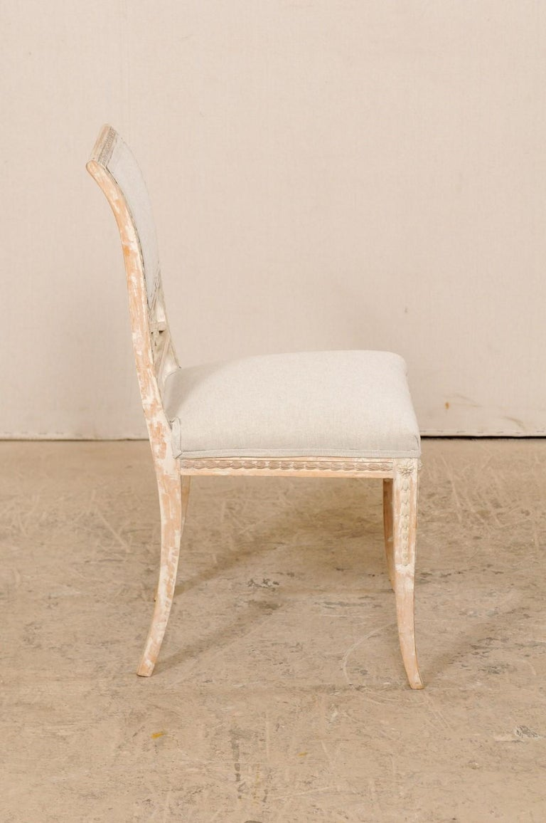 19th Century Single Swedish Gustavian Bellman Chair For Sale 5
