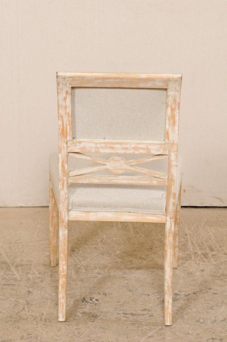 19th Century Single Swedish Gustavian Bellman Chair For Sale 6