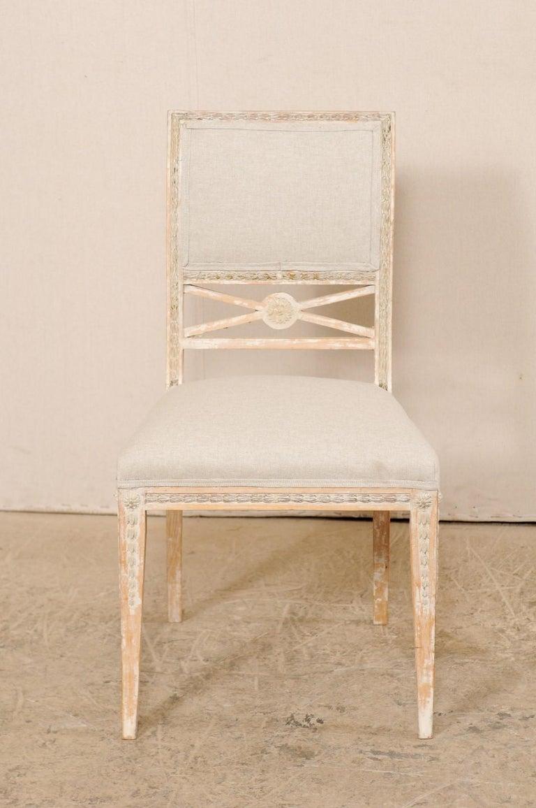Painted 19th Century Single Swedish Gustavian Bellman Chair For Sale